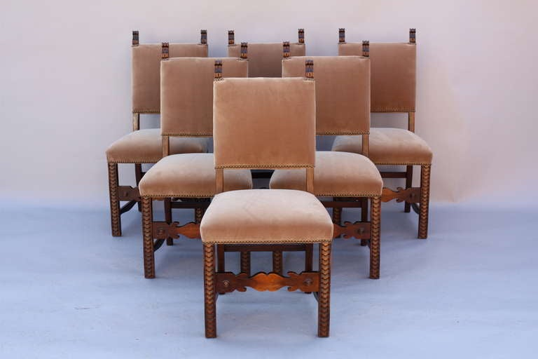1920s set of eight dining room chairs at 1stdibs