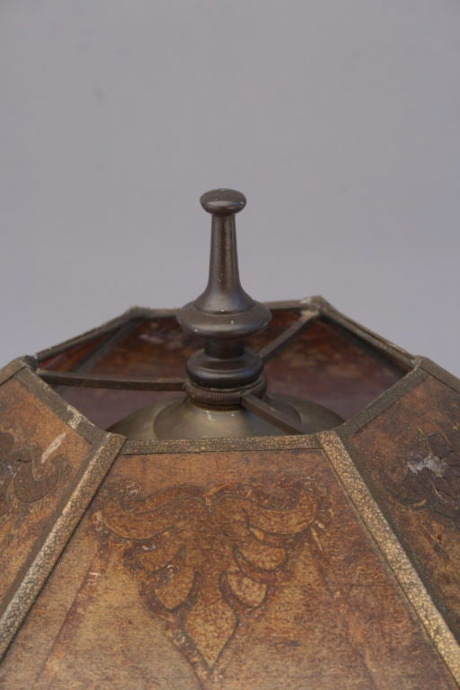 1920's Spanish Revival Table Lamp with Mica Shade 4