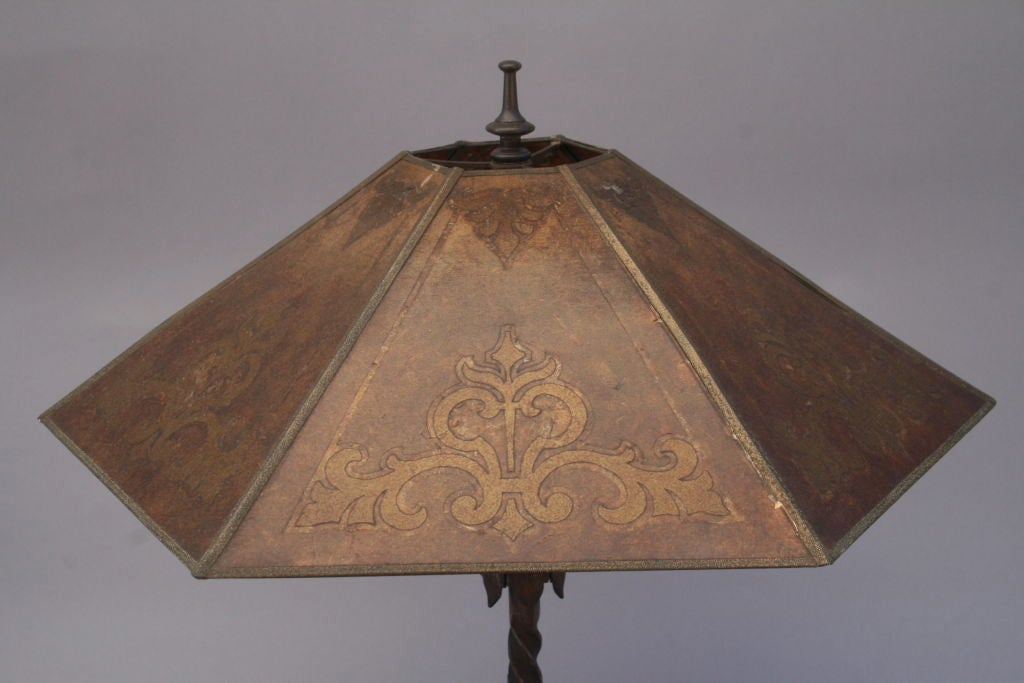 1920's Spanish Revival Table Lamp with Mica Shade image 7