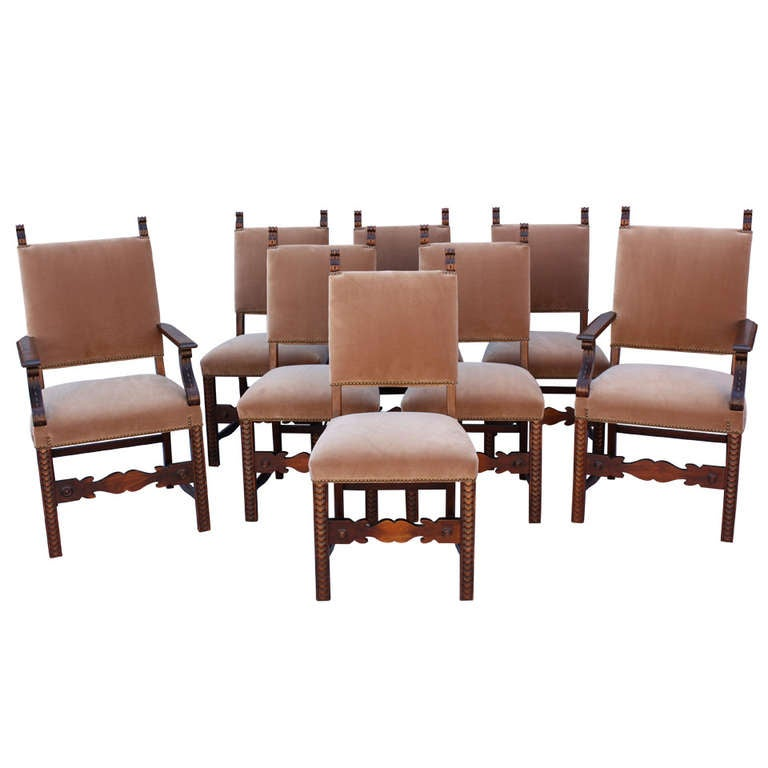 1920s set of eight dining room chairs at 1stdibs for 8 dining room chairs