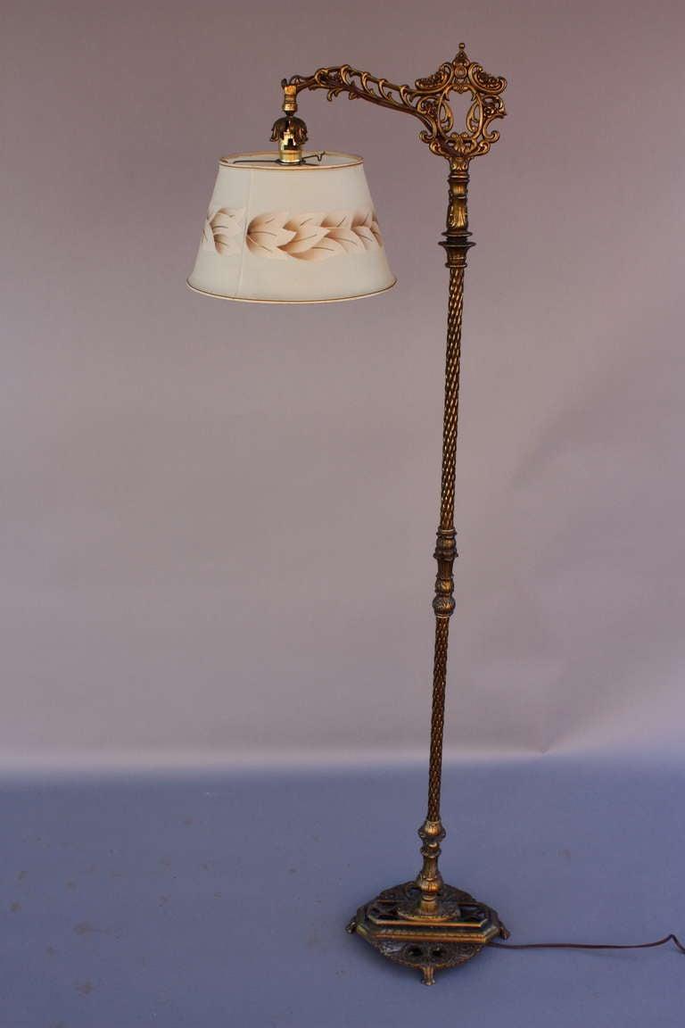 1920 S Bridge Floor Lamp With Adjustable Shade At 1stdibs