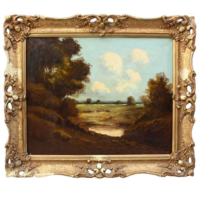 Beautiful Turn-of-the-Century Landscape Painting