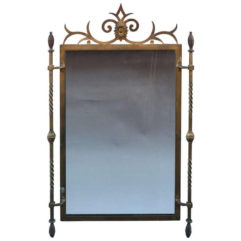 1920s Wrought Iron Mirror At 1stdibs