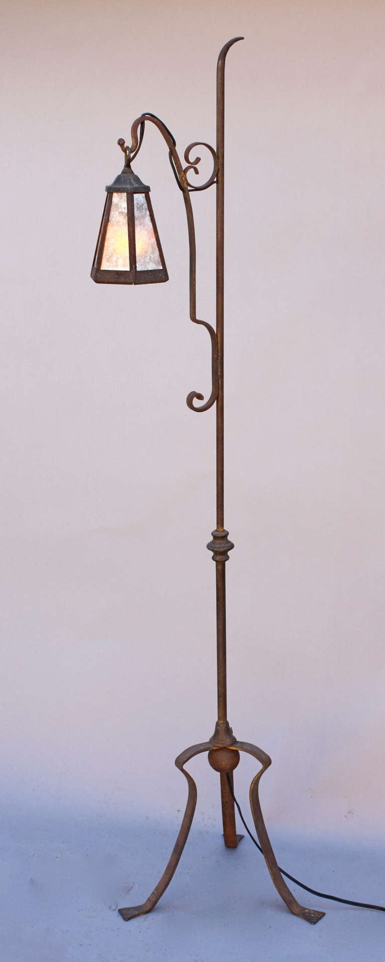 this 1920 39 s wrought iron floor lamp is no longer available. Black Bedroom Furniture Sets. Home Design Ideas