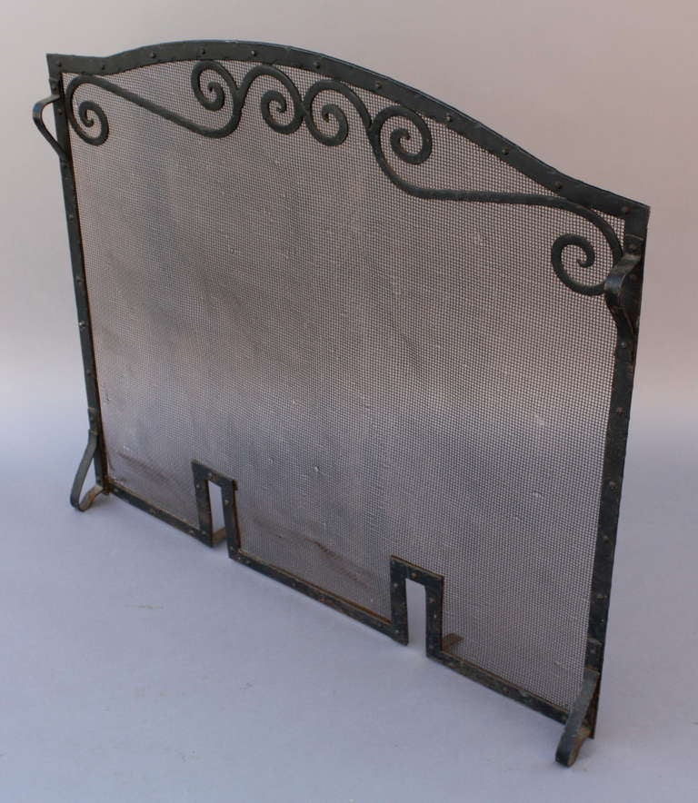 1920 39 S Wrought Iron Fire Screen At 1stdibs