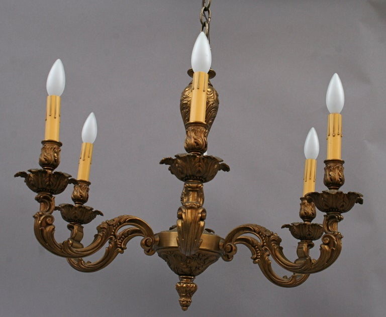 Antique Brass Chandelier Circa 1920 s For Sale at 1stdibs