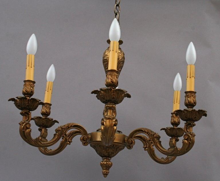 Antique Brass Chandelier Circa 1920 S At 1stdibs