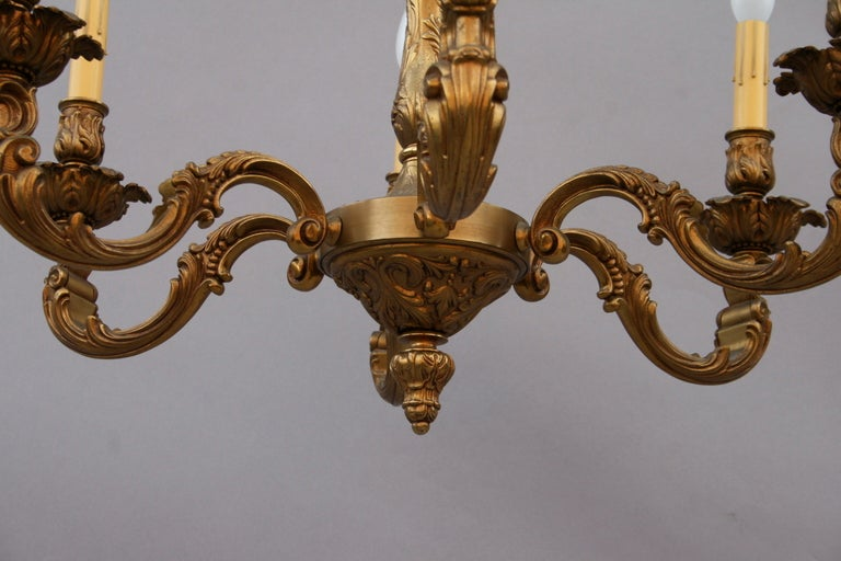 American Antique Brass Chandelier Circa 1920's For Sale - Antique Brass Chandelier Circa 1920's For Sale At 1stdibs