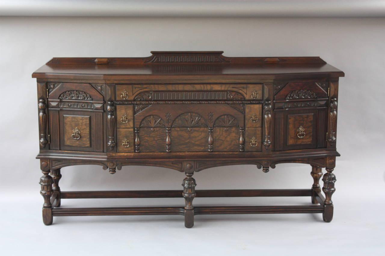 antique carved walnut 1920s sideboard credenza at 1stdibs