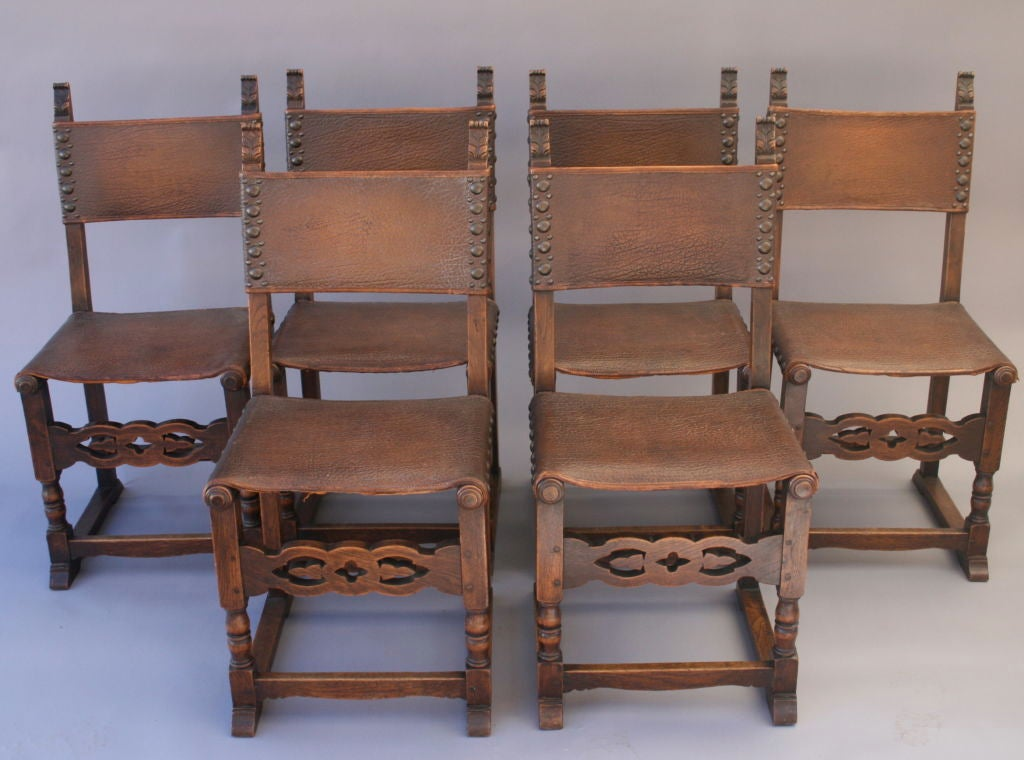 set of six classic spanish revival dining chairs at 1stdibs