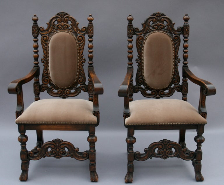 Antique Set 8 Marshall Laird Dining Room Chairs at 1stdibs