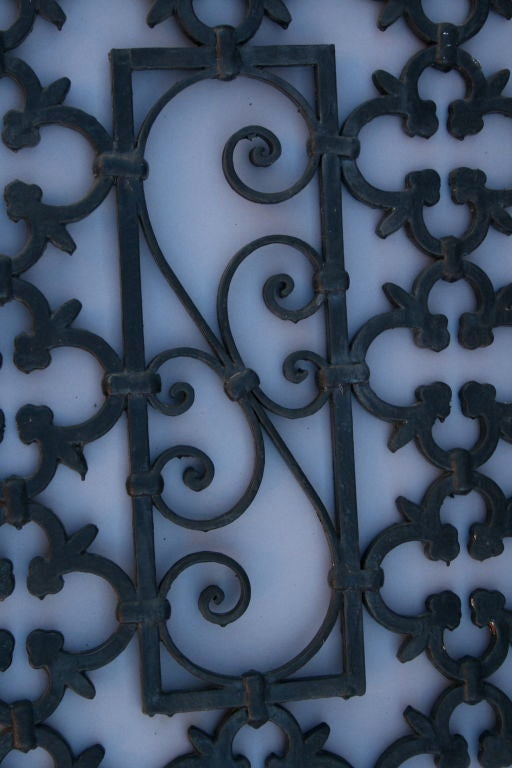 Wrought Iron Spanish Revival Window Grate At 1stdibs