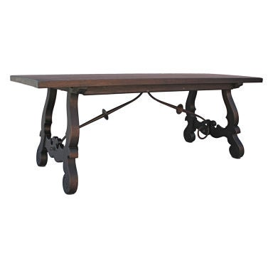 Beautiful spanish revival dining table simple design at 1stdibs - Simple dining table design ...
