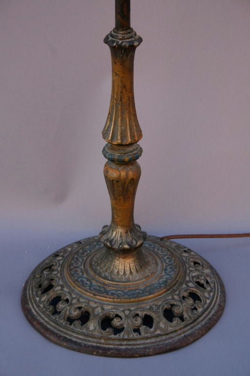 Wrought iron torchiere with mica at 1stdibs for Mica torchiere floor lamp