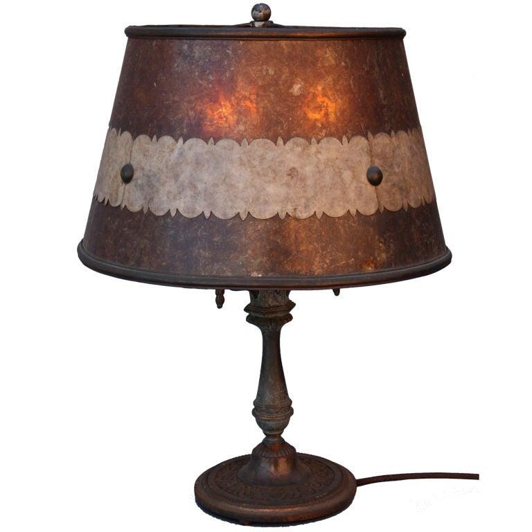 1920 39 S Table Lamp With Original Mica Shade At 1stdibs