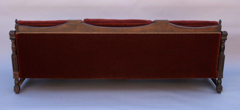 Wood Frame Sofa : Spanish Revival Sofa w/ Wooden Frame at 1stdibs