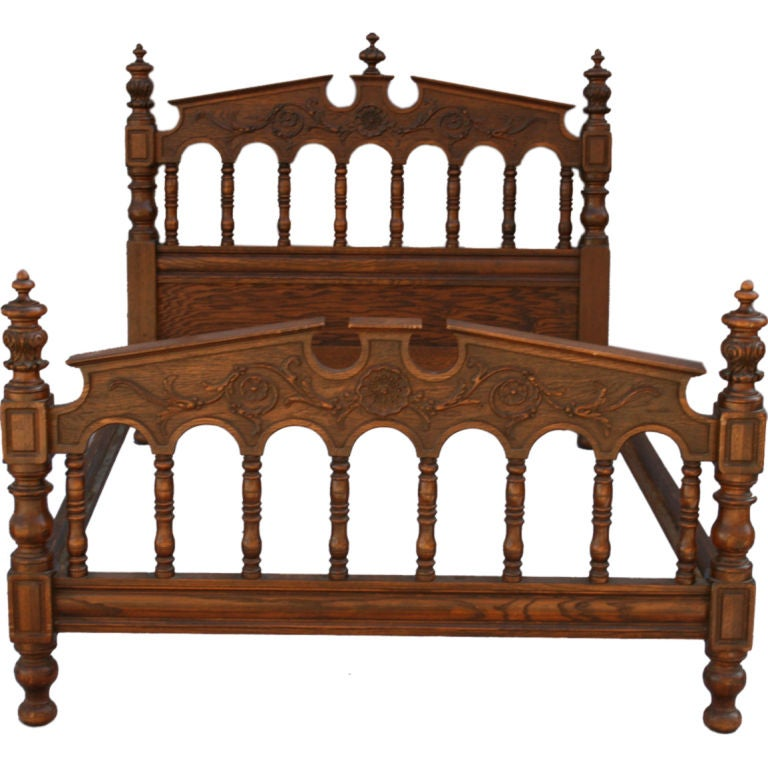 Revival Era Bed Frame By Angelus Furniture Los Angeles At