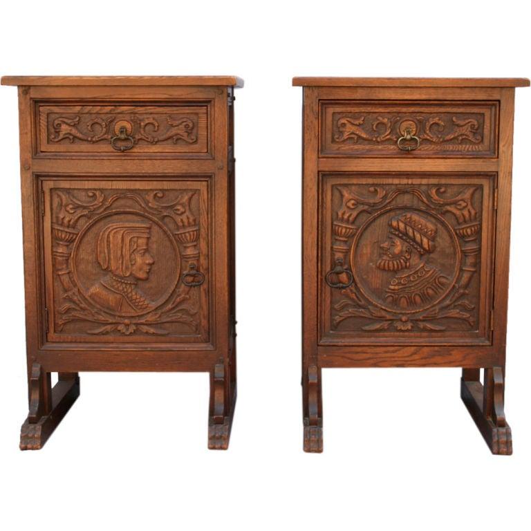 Genial 1920u0027s Pair Nightstands By Angelus Furniture, Los Angeles For Sale