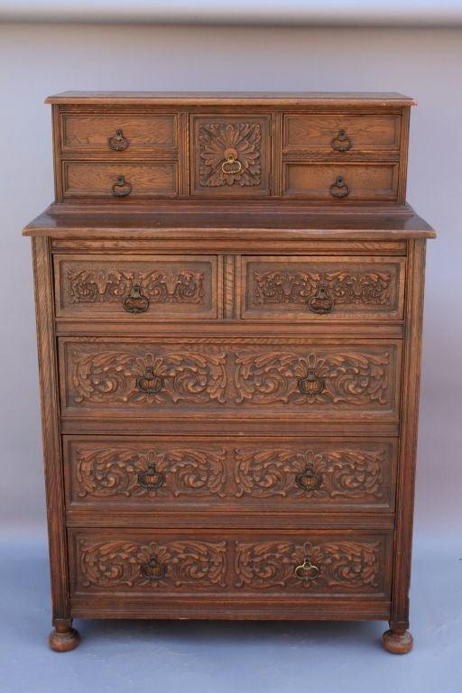 American 1920u0027s Highboy Dresser By Angelus Furniture, Los Angeles For Sale
