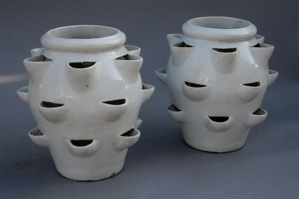 Pair Stunning Gladding Mcbean Strawberry Pots At 1stdibs