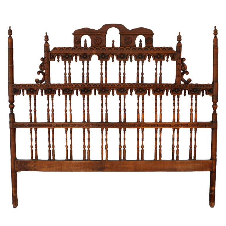 spanish revival headboard at 1stdibs. Black Bedroom Furniture Sets. Home Design Ideas
