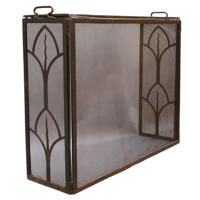 Wrought Iron Fire Screen C 1920 39 S At 1stdibs