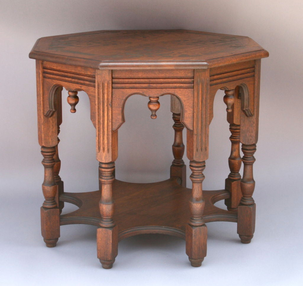 Octagonal side end table c  s at stdibs