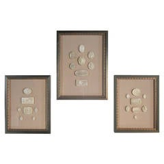 Collection of Three Framed Intaglios