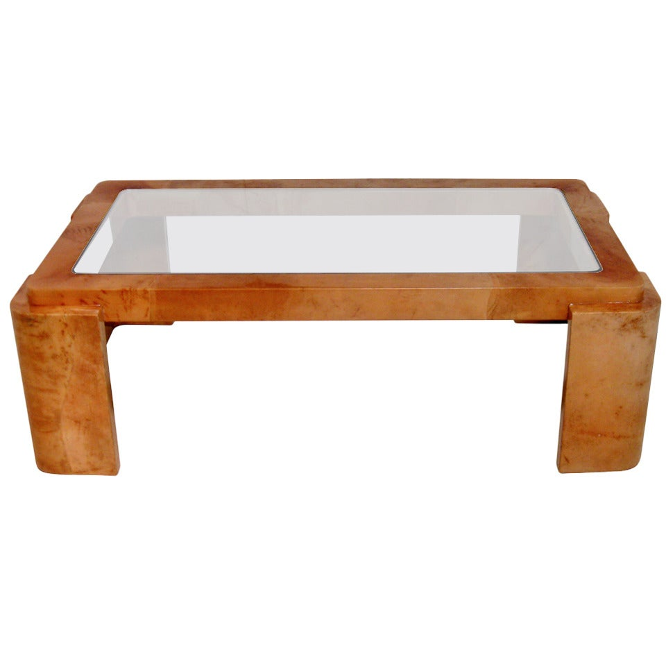 Lacquered Goatskin Coffee Table At 1stdibs