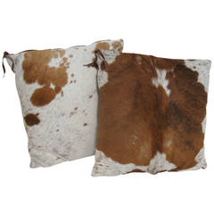 Pair of Cowhide Pillows