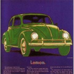 "Andy Warhol - Volkswagen Ad Original Screenprint 38"" x 38"""