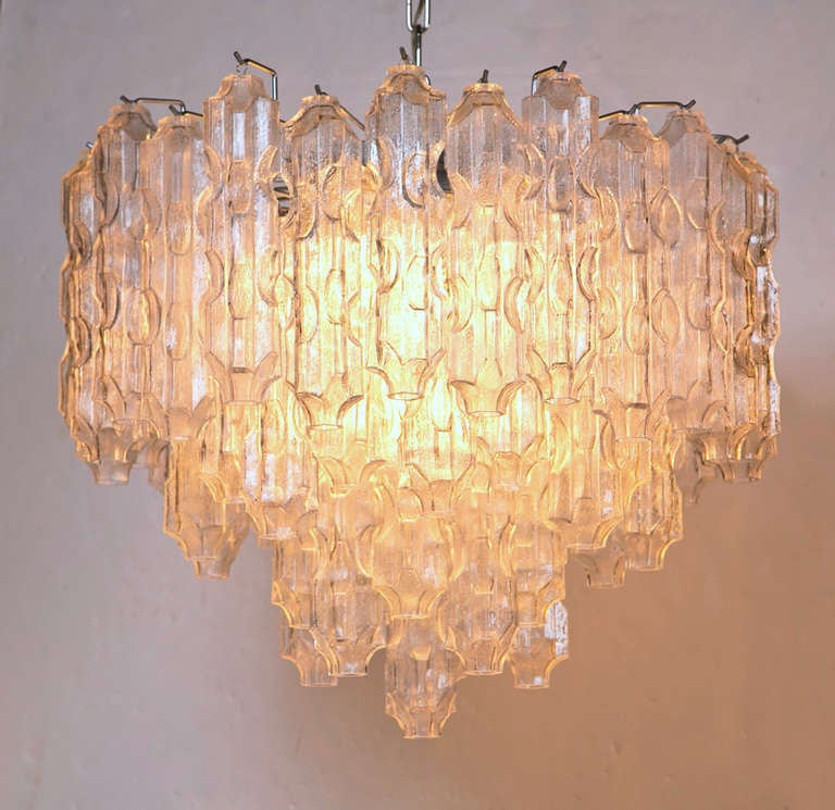 Vintage Tronchi Murano Glass Chandelier image 2