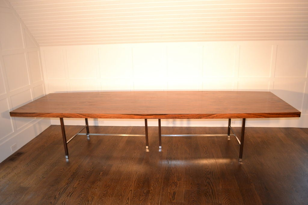 12 foot probber rosewood dining table at 1stdibs for 12 foot long dining room table