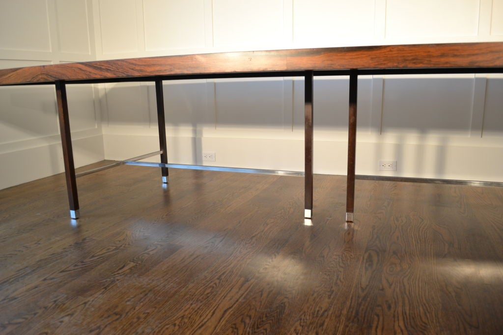12 foot probber rosewood dining table at 1stdibs for 12 foot dining room table