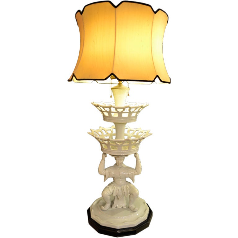 Chinoiserie Porcelain Lamp At 1stdibs