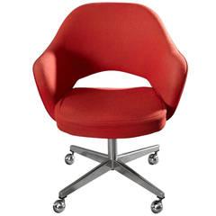 Eero Saarinen Swivel Executive Arm Chair for Knoll in Orange