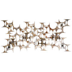 """Brass Wall Sconce for Four Candles """"Cuatro"""" by Marc Weinstein for Marc Creates"""