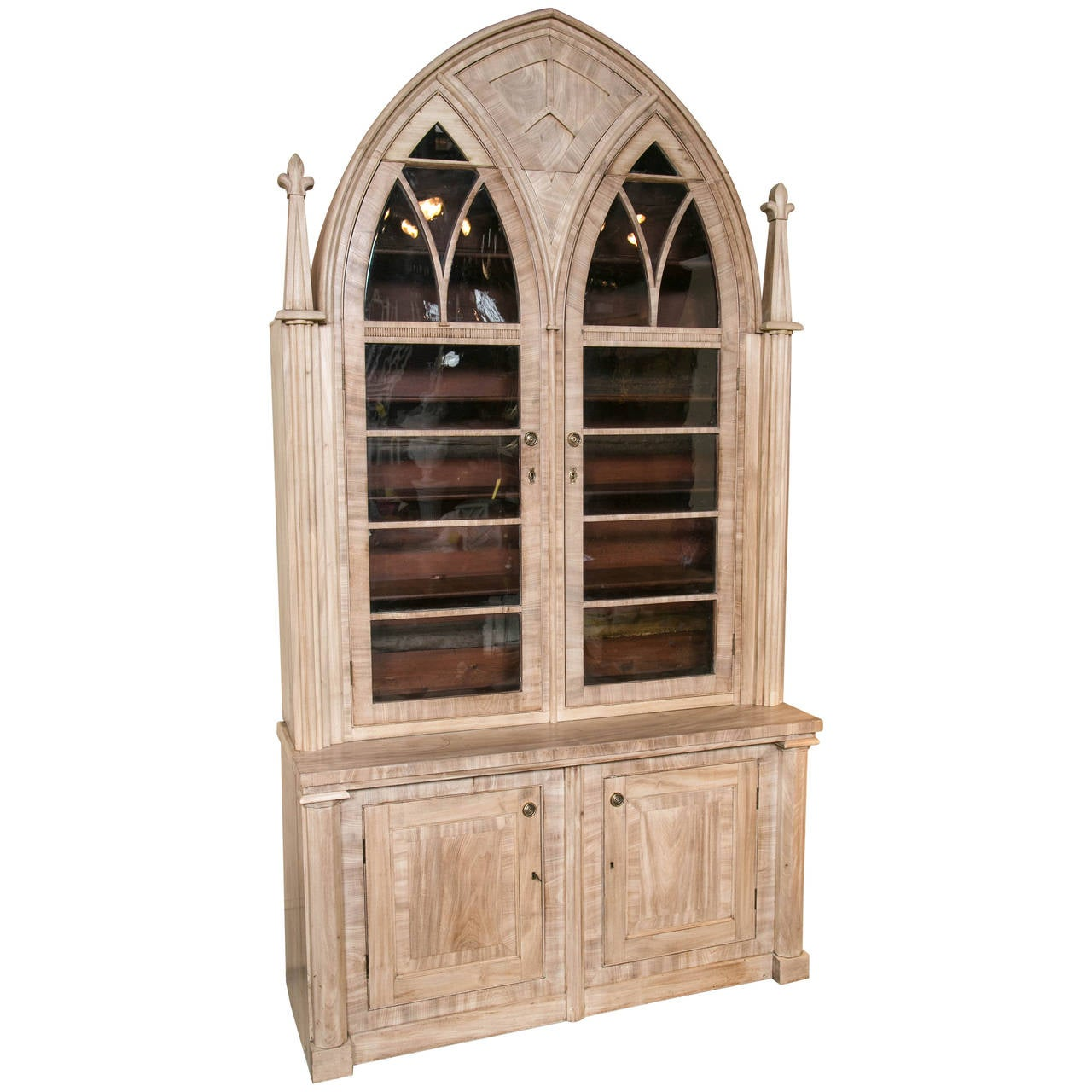 Gothic English Bleached Mahogany Cabinet For Sale At 1stdibs
