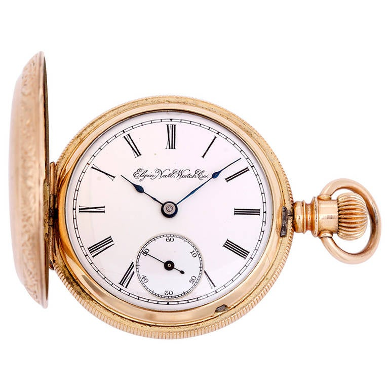 Elgin Gold-Filled Grade 102 Model 2 Manual Wind Pocket Watch