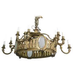 Bronze 16-Light Oval Chandelier