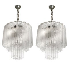 A Pair Of Elegant Italian Design Ceiling Lights