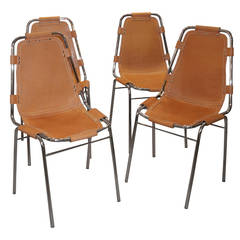 Set of Four Charlotte Perriand Les Arcs Chairs