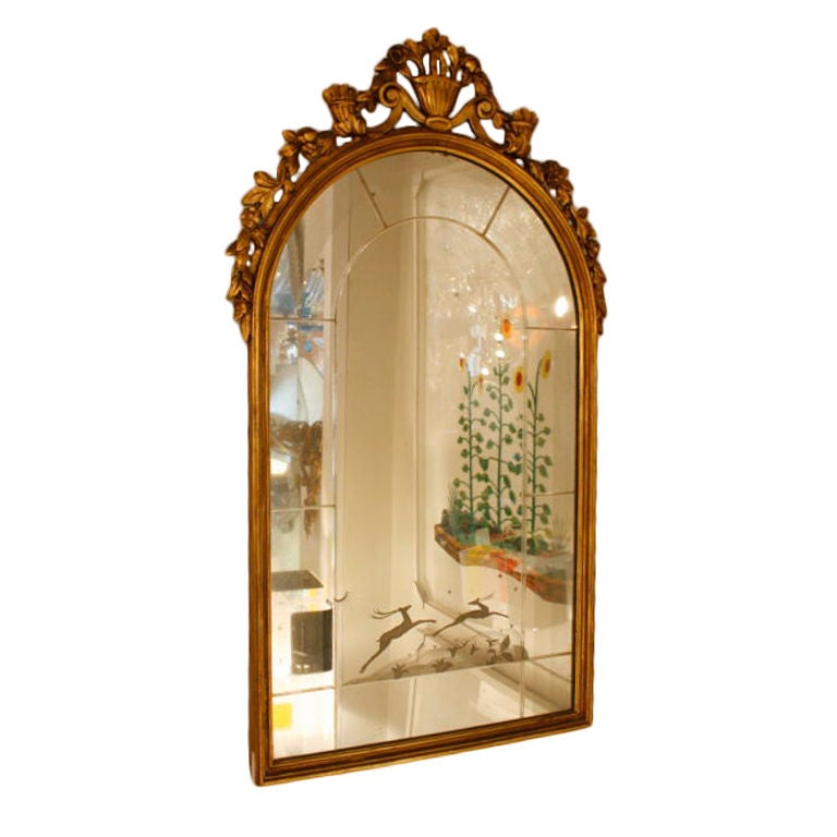 oblong hair styles 1927 ca italian carved mirror at 1stdibs 7170