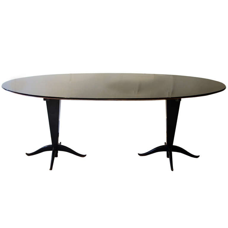 oblong hair styles 1950s oval dining table at 1stdibs 7170