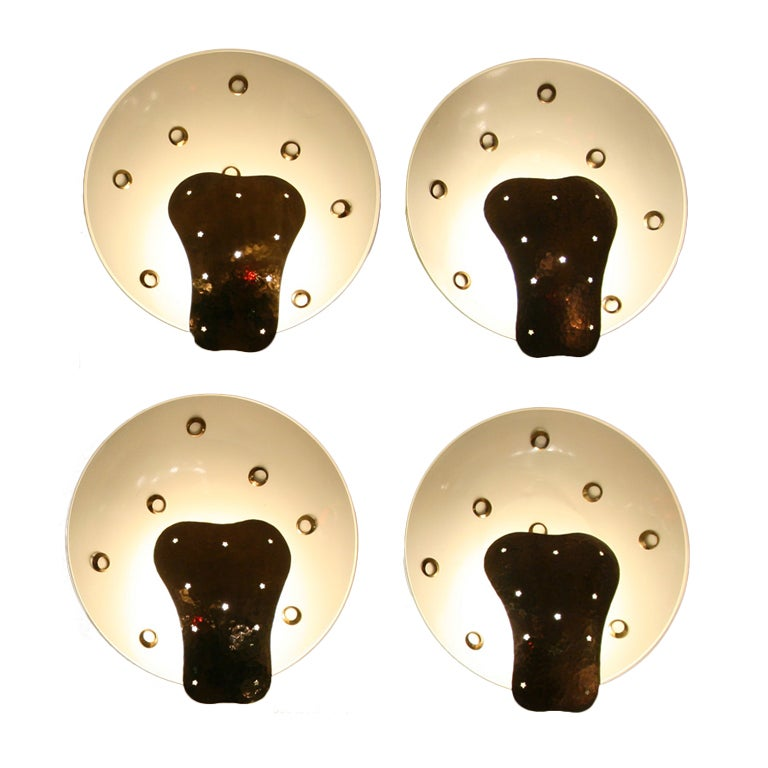 oblong hair styles a set of four wall lights at 1stdibs 7170