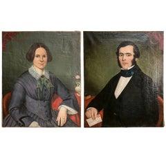 Portraits of English Gentleman and Lady