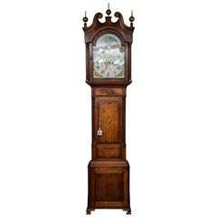 Oak and Mahogany Tall Case Clock