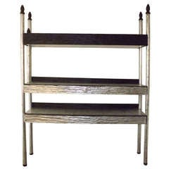Phillip Lloyd Powell Etagere in Silver Leaf