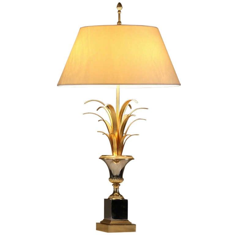 xl high end regency maison charles bronze palm motif lamp at 1stdibs. Black Bedroom Furniture Sets. Home Design Ideas