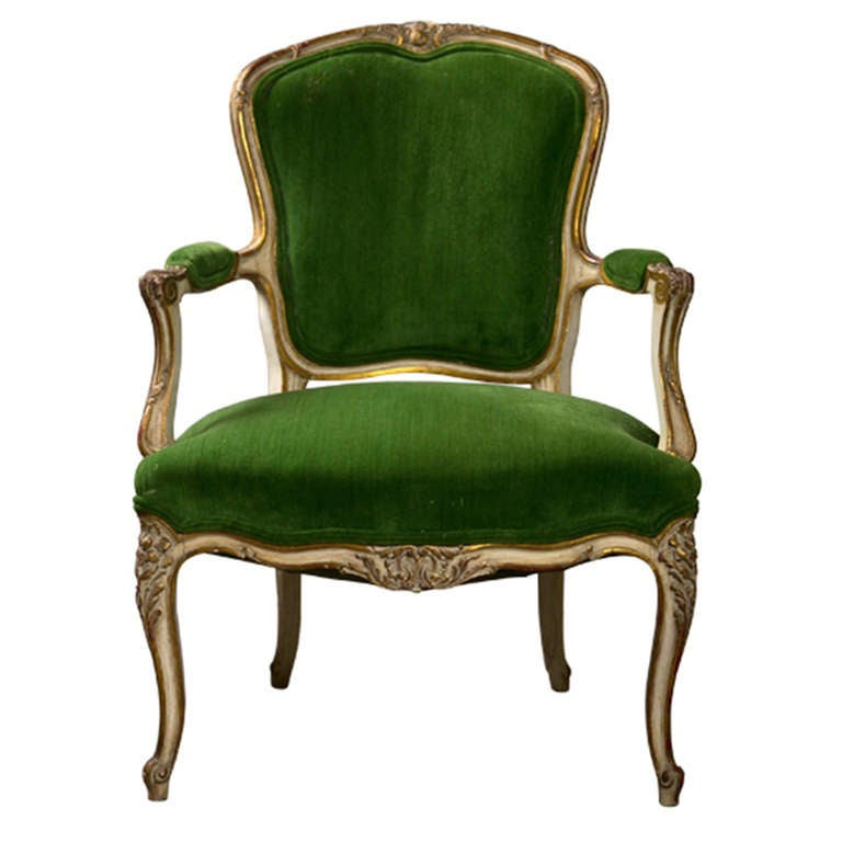 French Louis Xv Style Armchair At 1stdibs